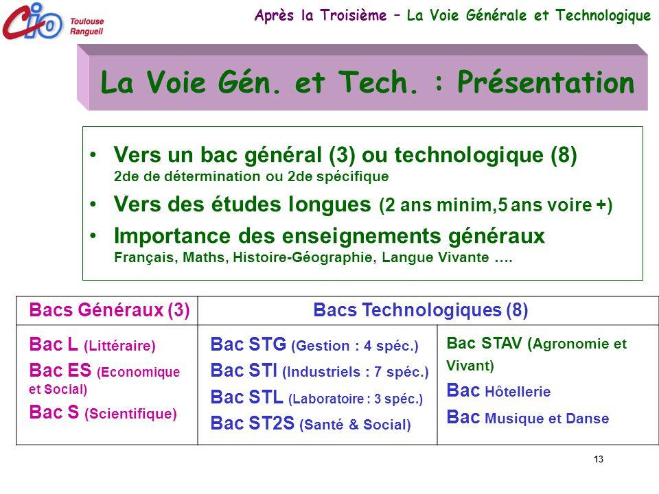 La Voie Gén. et Tech. : Présentation