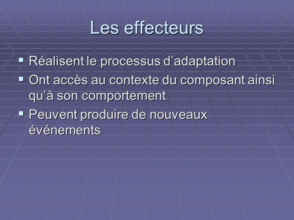 Les effecteurs Réalisent le processus d'adaptation
