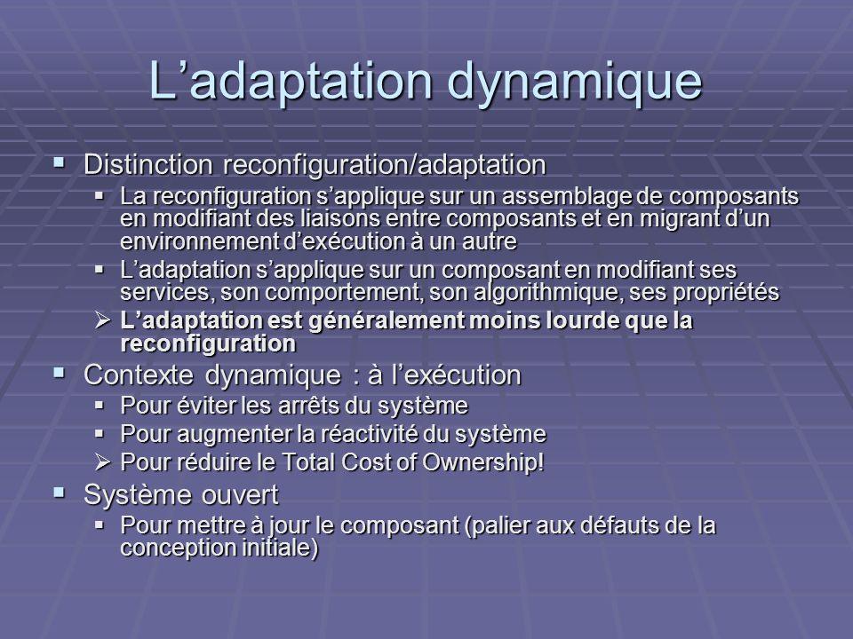 L'adaptation dynamique