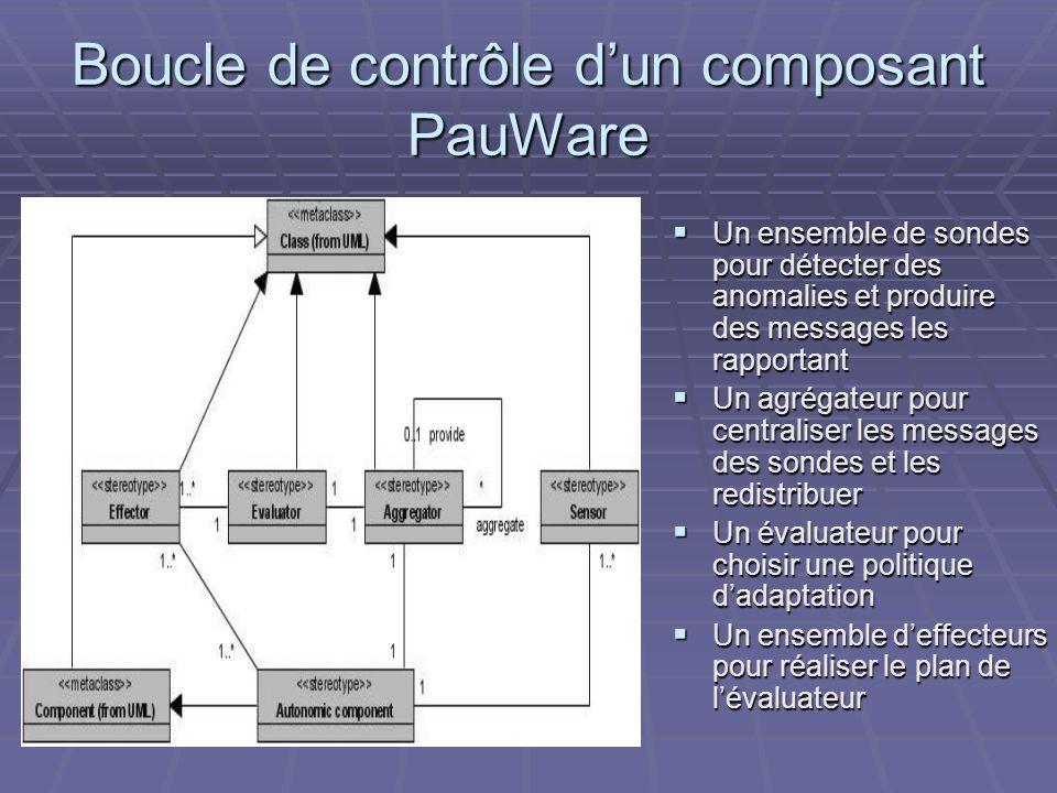 Boucle de contrôle d'un composant PauWare