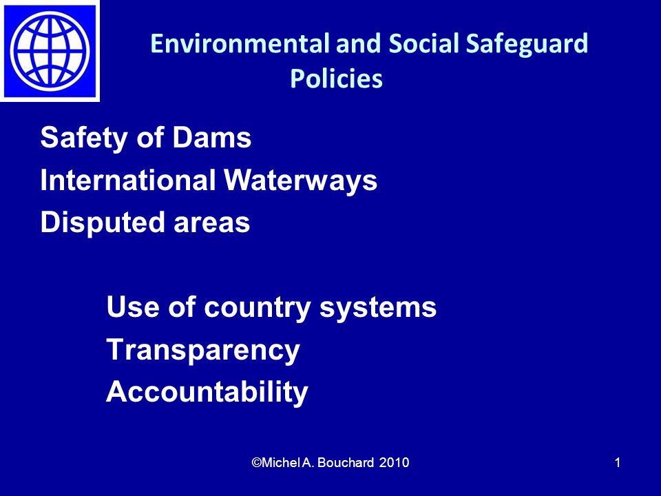 Environmental and Social Safeguard Policies