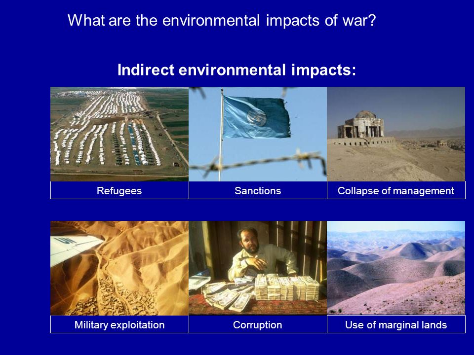 Indirect environmental impacts: