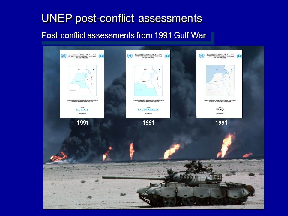 UNEP post-conflict assessments