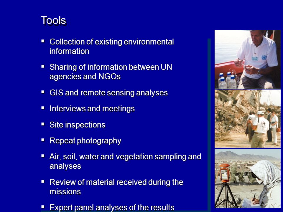 Tools Collection of existing environmental information