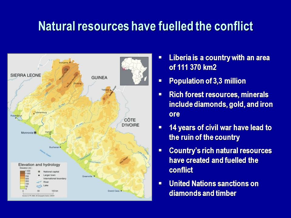 Natural resources have fuelled the conflict