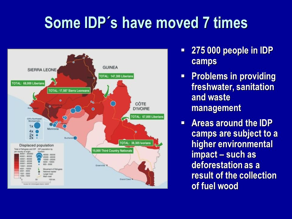 Some IDP´s have moved 7 times