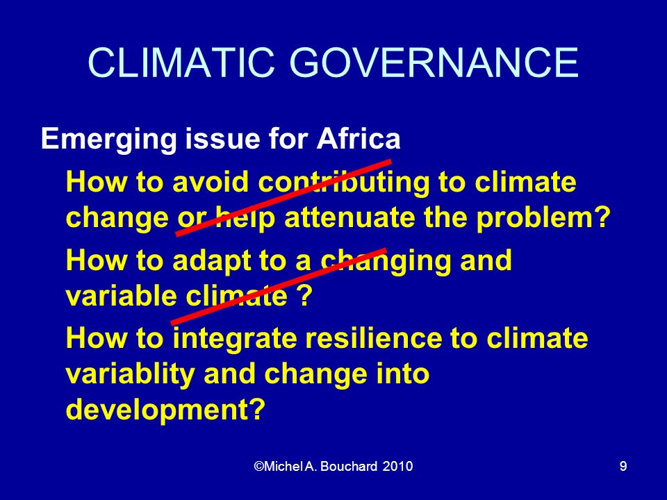 CLIMATIC GOVERNANCE