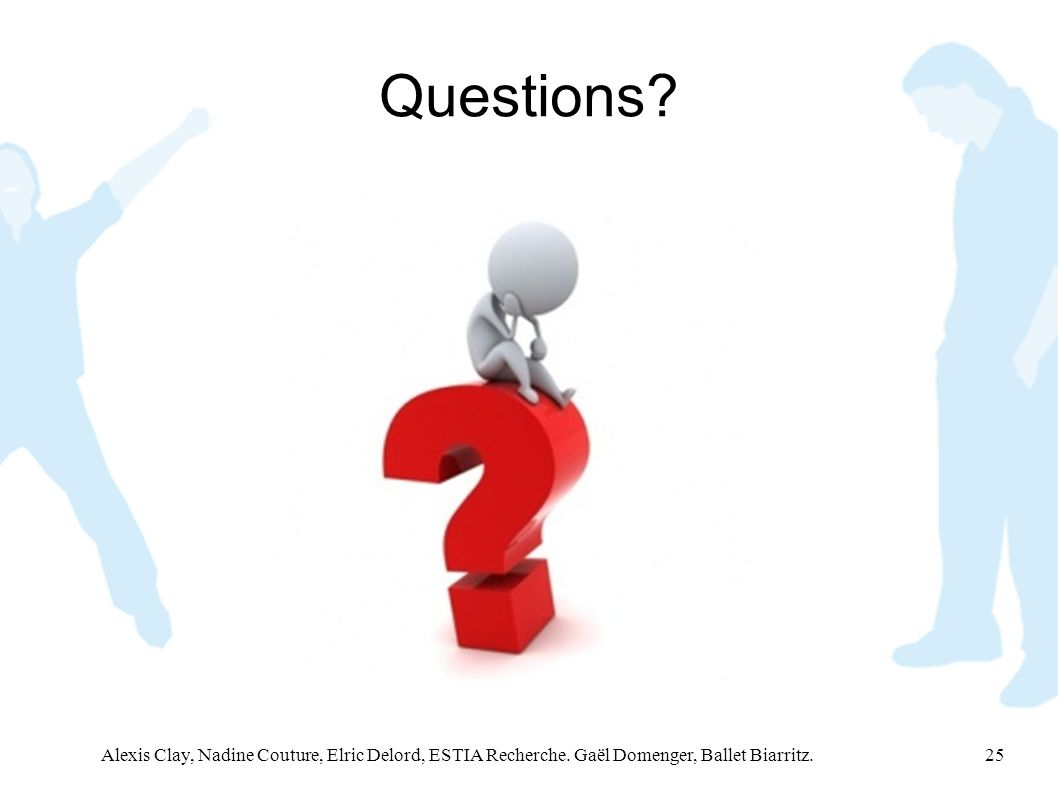 Questions. Alexis Clay, Nadine Couture, Elric Delord, ESTIA Recherche.