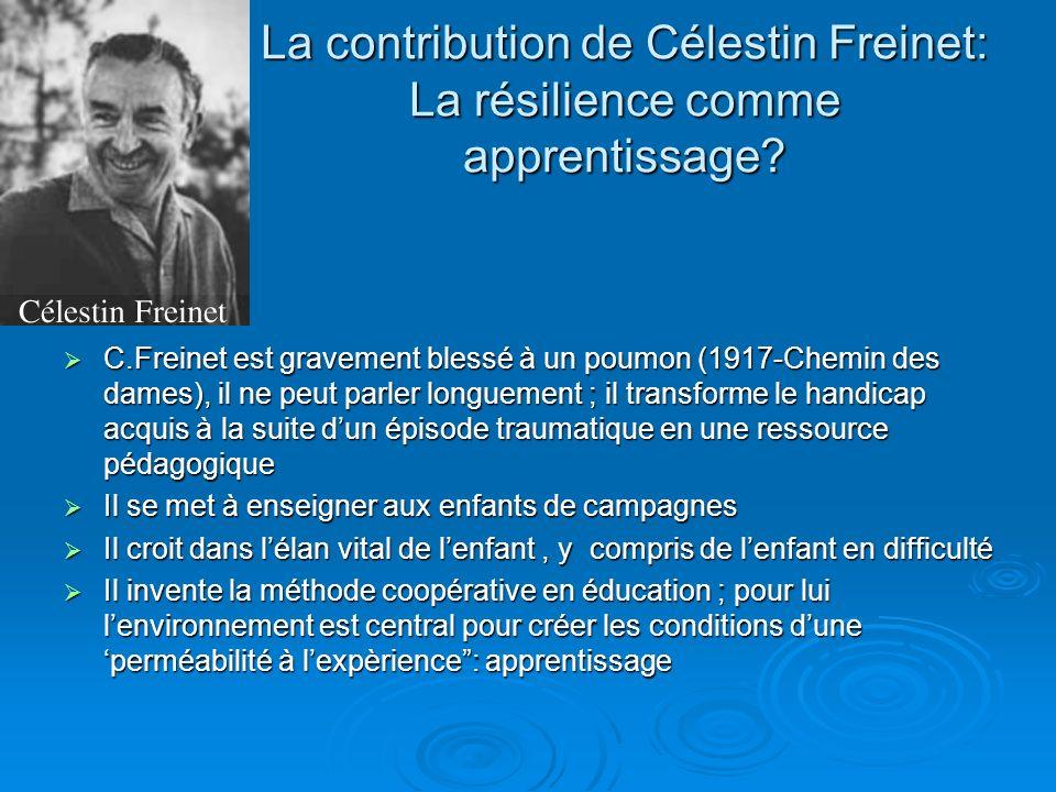 La contribution de Célestin Freinet: La résilience comme apprentissage