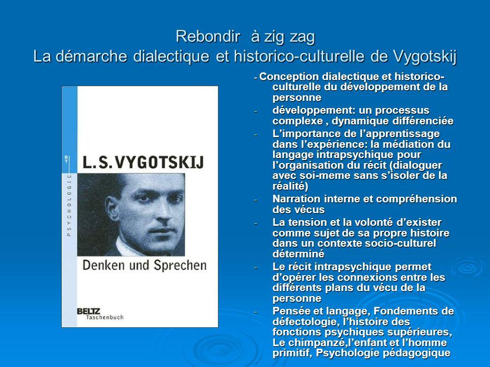 Rebondir à zig zag La démarche dialectique et historico-culturelle de Vygotskij