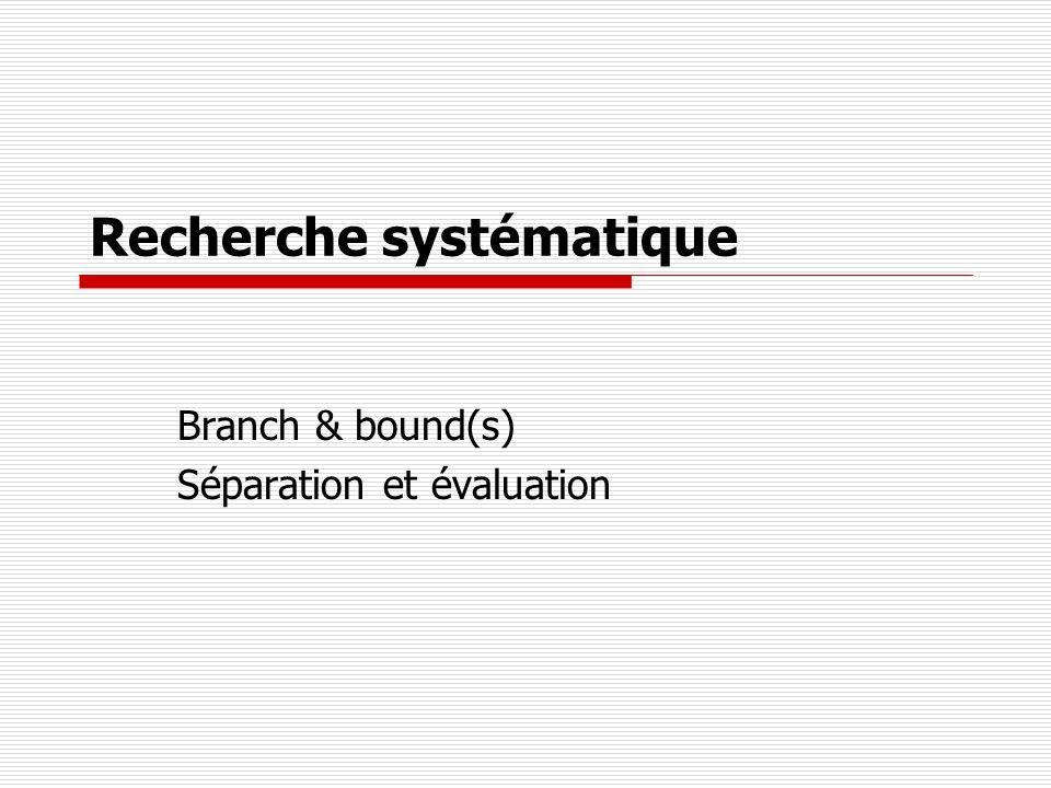 Recherche systématique