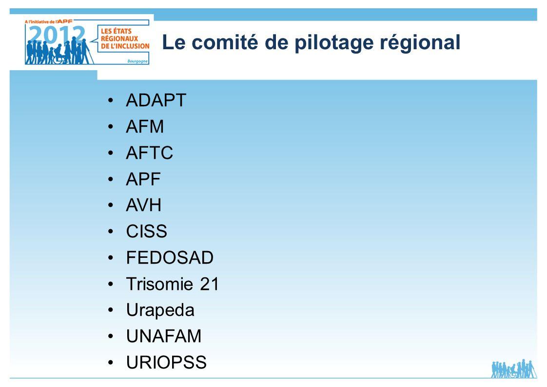 Le comité de pilotage régional