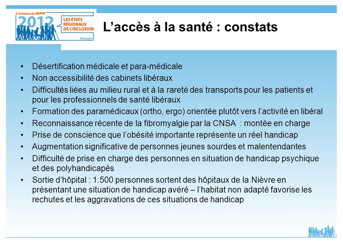 L'accès à la santé : constats