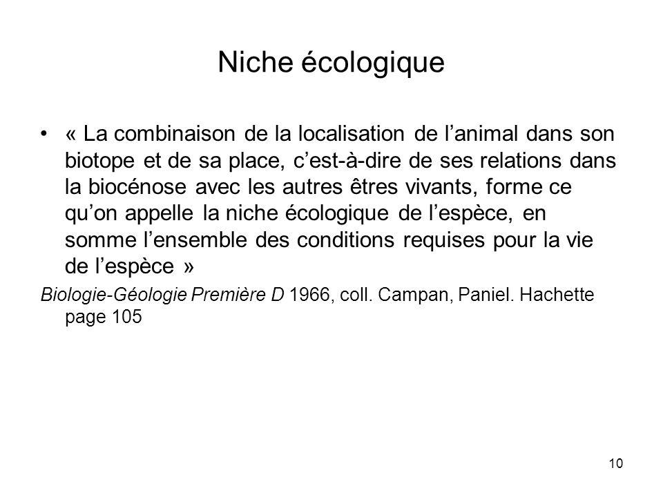 Niche écologique
