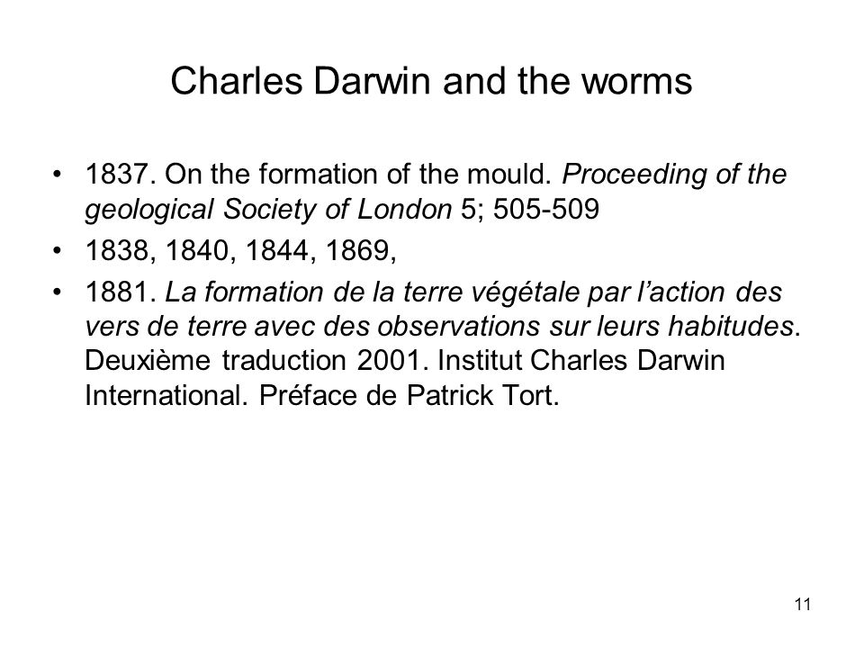Charles Darwin and the worms