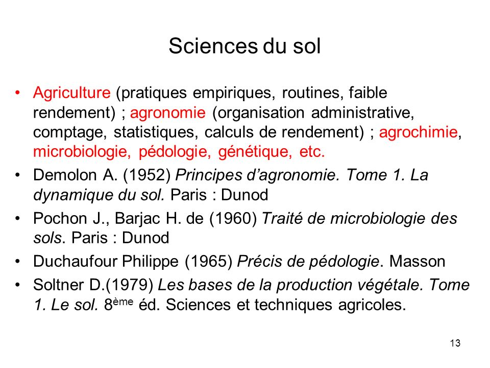 Sciences du sol