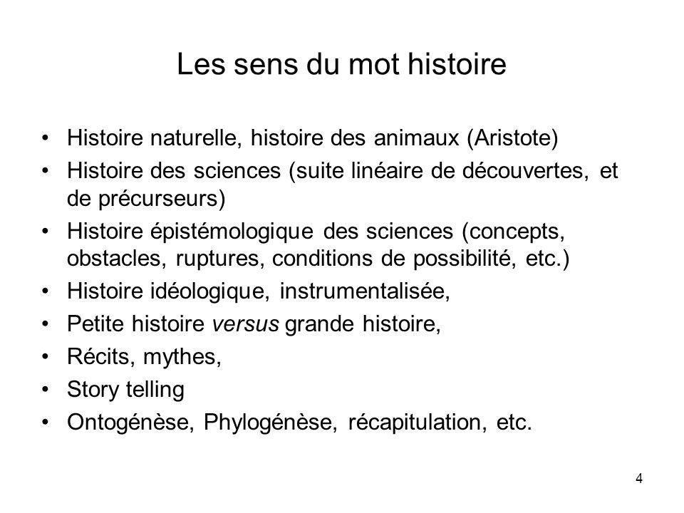 Les sens du mot histoire