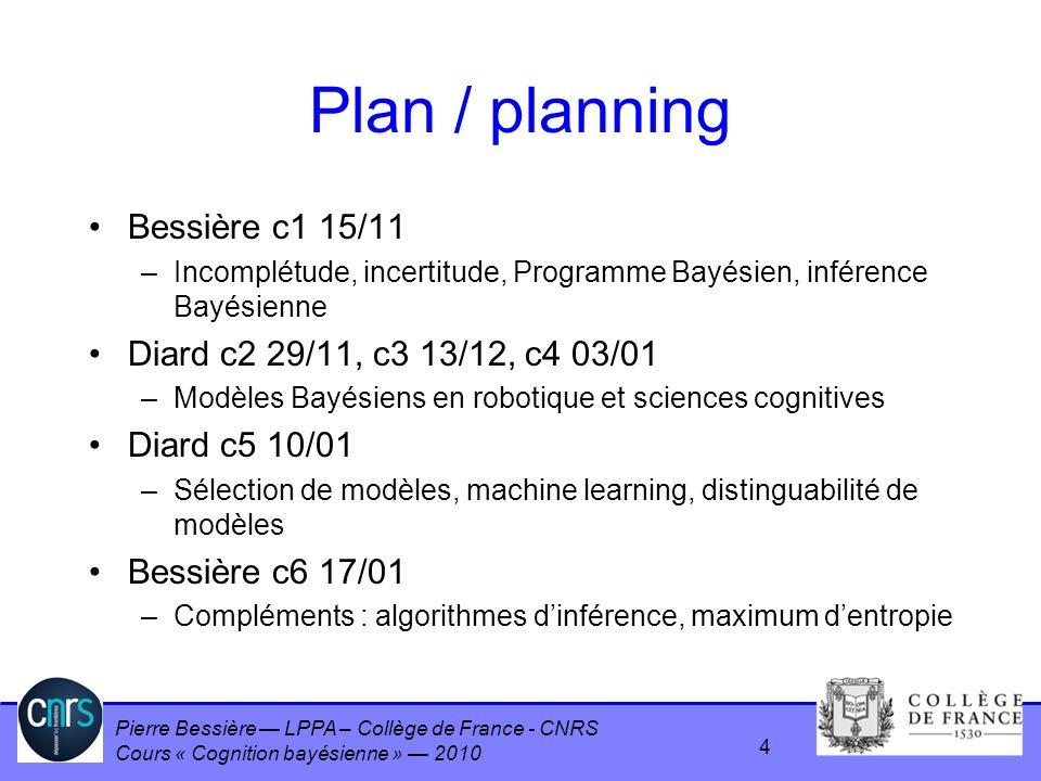 Plan / planning Bessière c1 15/11 Diard c2 29/11, c3 13/12, c4 03/01