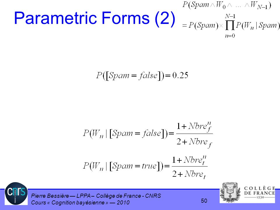 Parametric Forms (2)