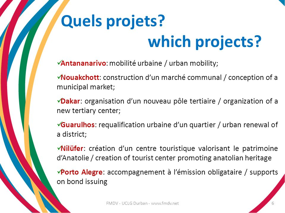Quels projets which projects