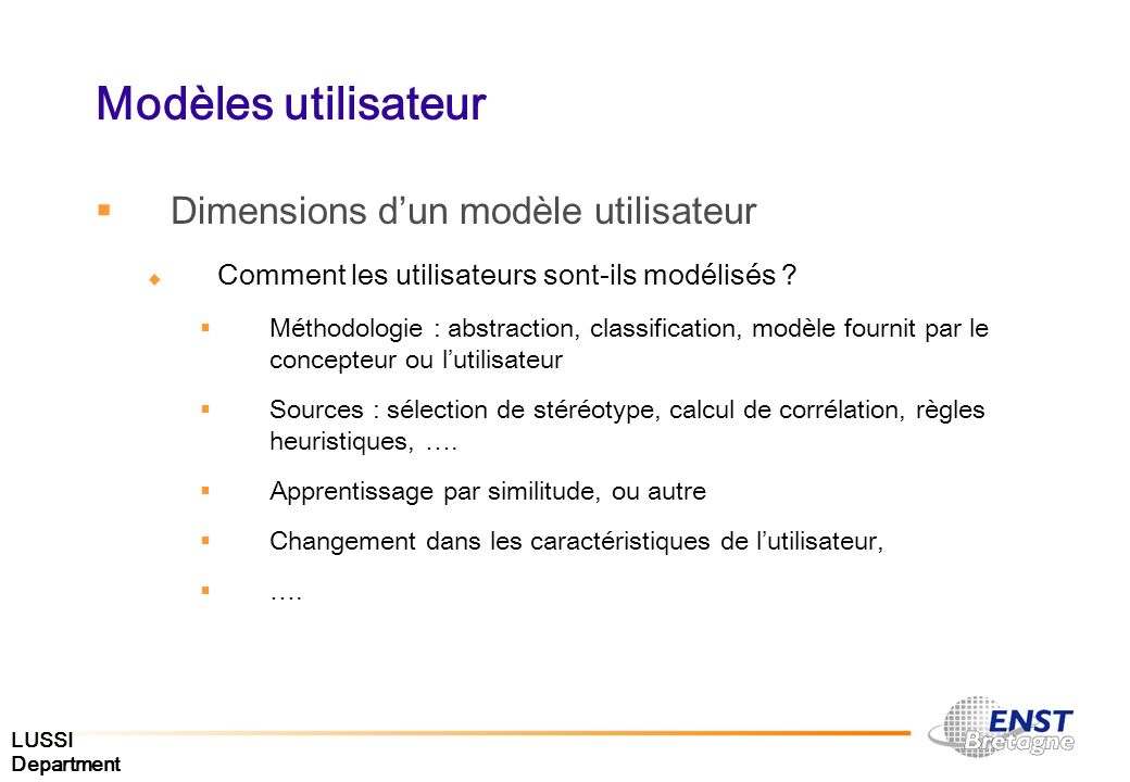 Modèles utilisateur Dimensions d'un modèle utilisateur