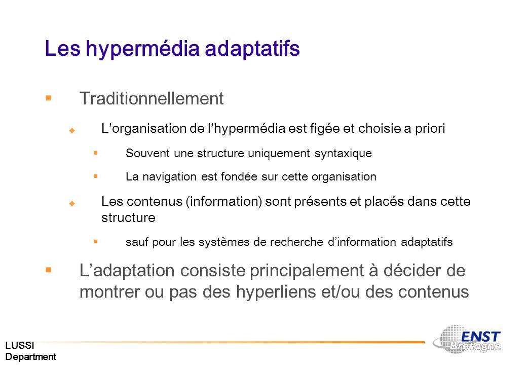 Les hypermédia adaptatifs