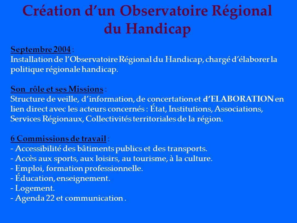 Création d'un Observatoire Régional
