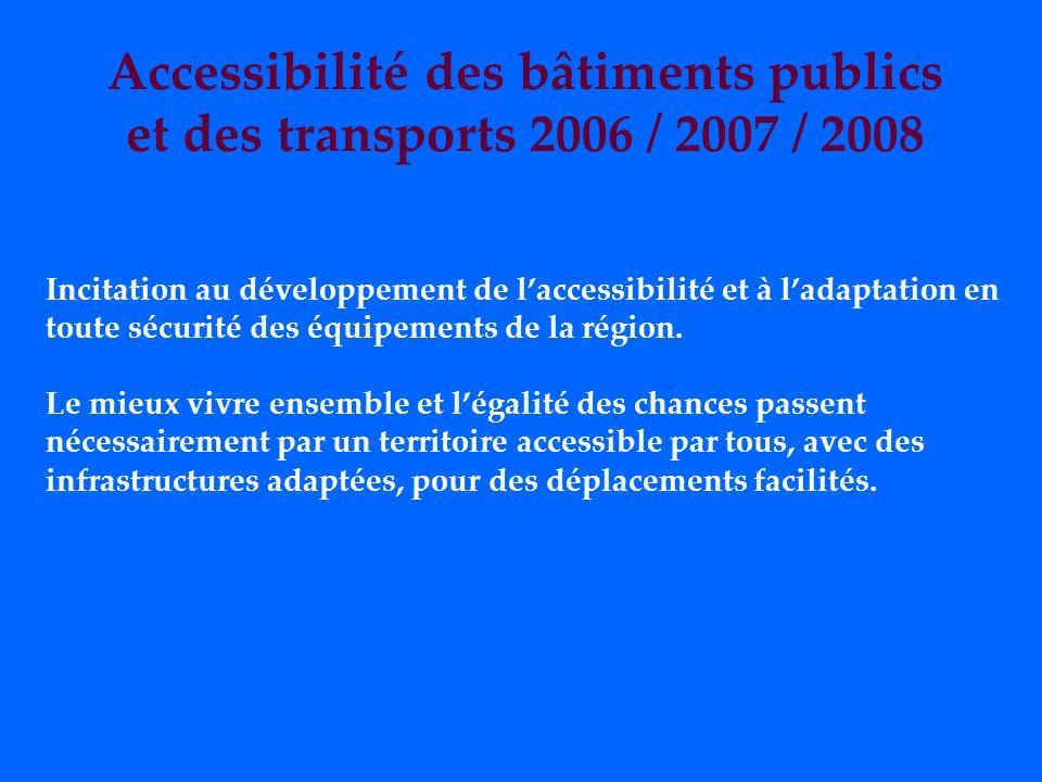 Accessibilité des bâtiments publics