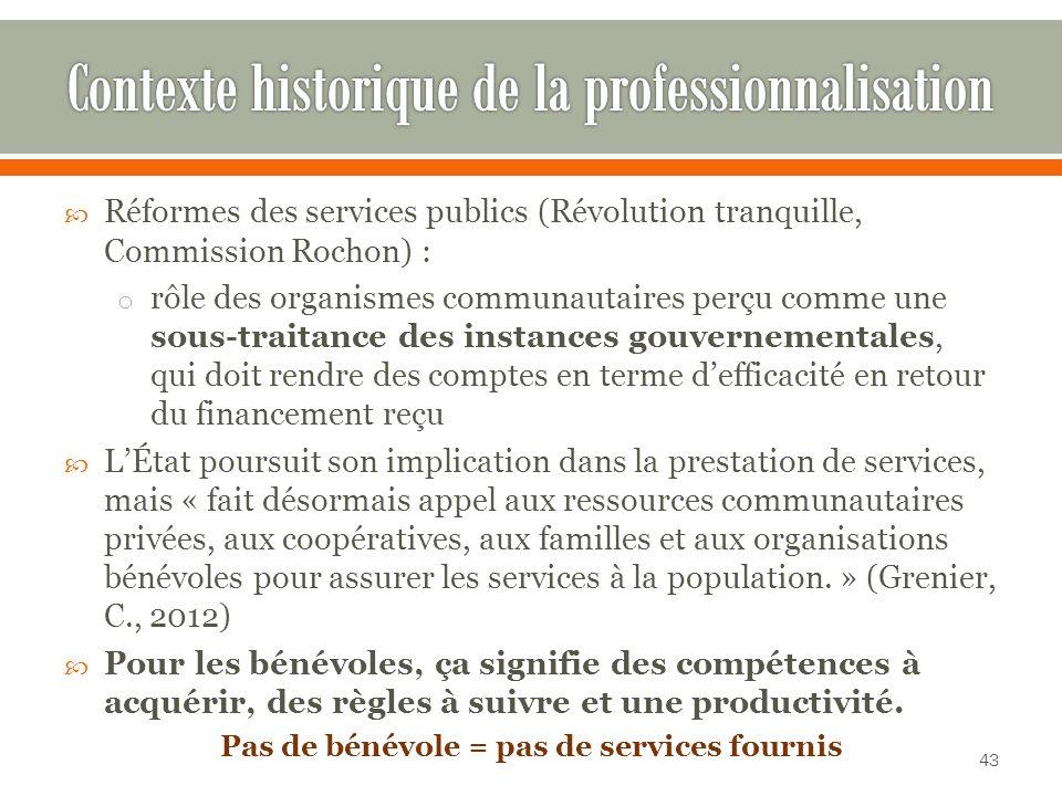 Contexte historique de la professionnalisation