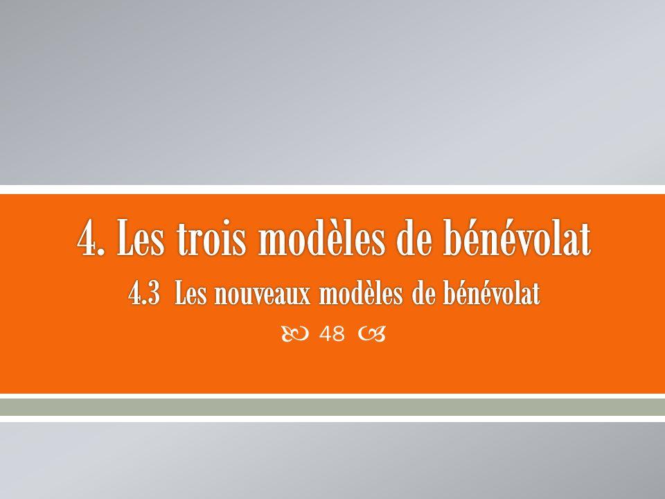 4. Les trois modèles de bénévolat 4