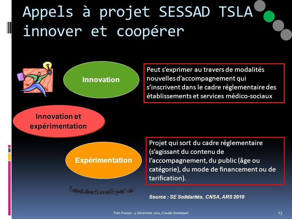 Appels à projet SESSAD TSLA innover et coopérer