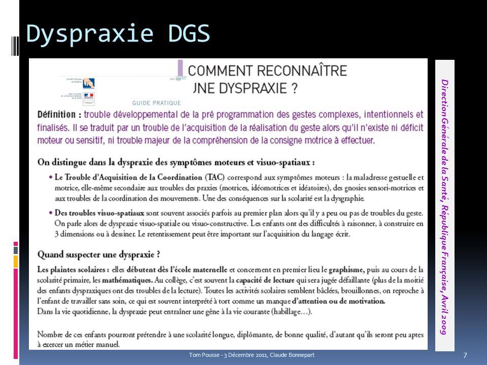 Direction Générale de la Santé, République Française, Avril 2009