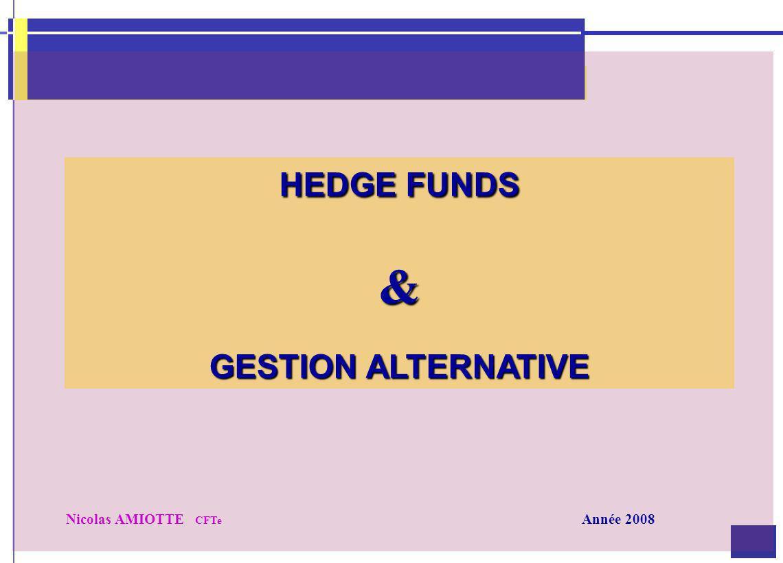 HEDGE FUNDS & GESTION ALTERNATIVE Nicolas AMIOTTE CFTe Année 2008