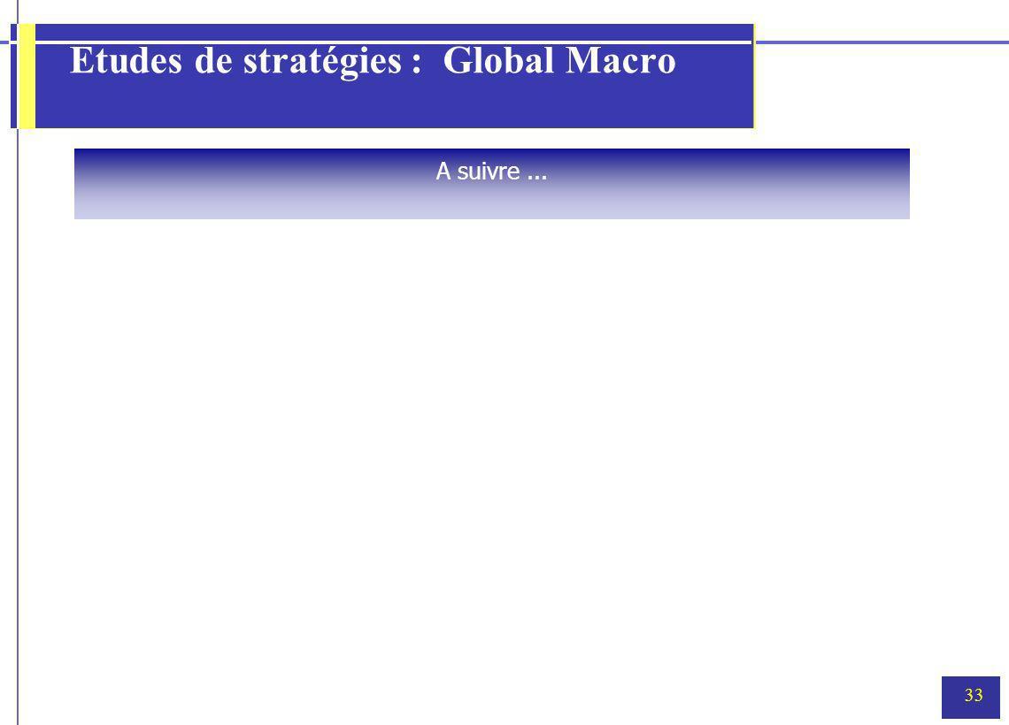 Etudes de stratégies : Global Macro