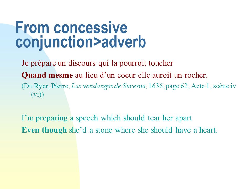 From concessive conjunction>adverb
