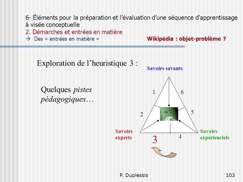 3 Exploration de l'heuristique 3 : Quelques pistes pédagogiques…