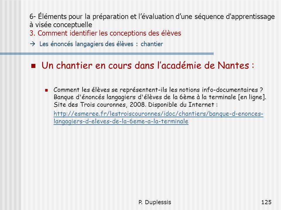 Un chantier en cours dans l'académie de Nantes :