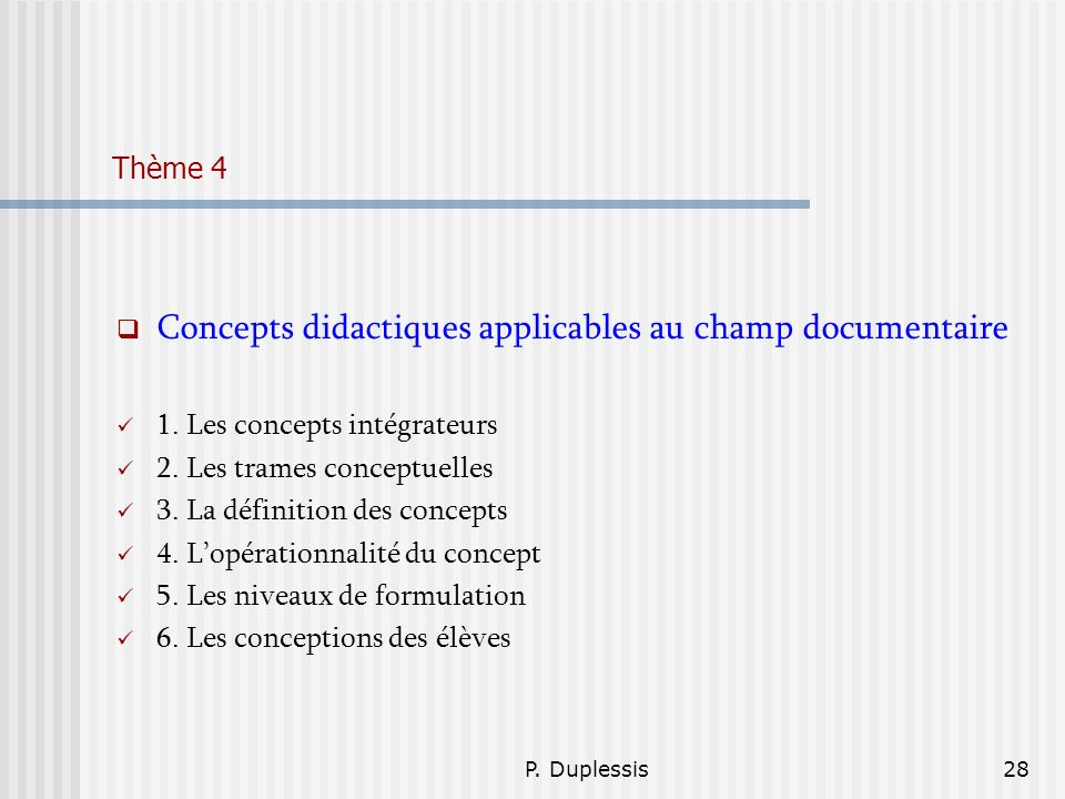 Concepts didactiques applicables au champ documentaire