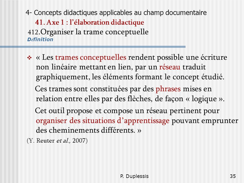 4- Concepts didactiques applicables au champ documentaire 41