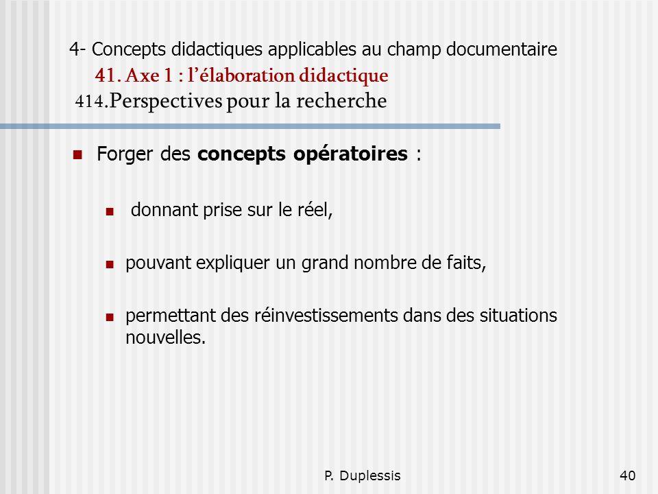 Forger des concepts opératoires :