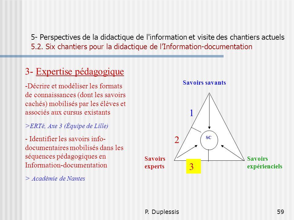 3- Expertise pédagogique