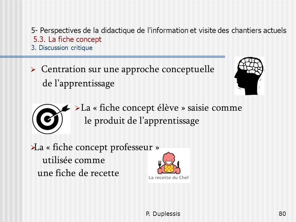 Centration sur une approche conceptuelle de l'apprentissage