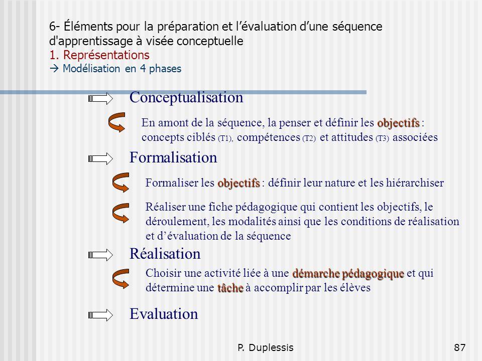 Conceptualisation Formalisation Réalisation Evaluation