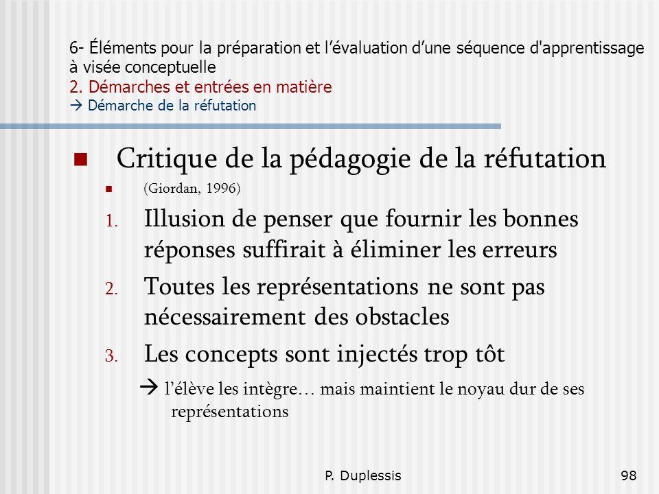 Critique de la pédagogie de la réfutation