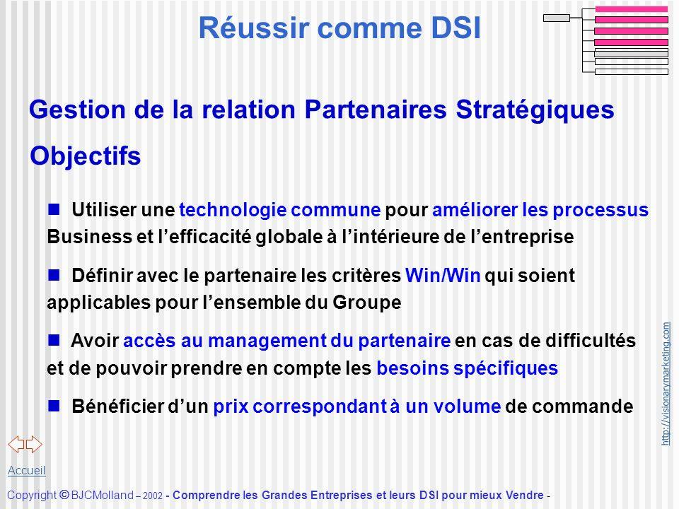 Réussir comme DSI Gestion de la relation Partenaires Stratégiques