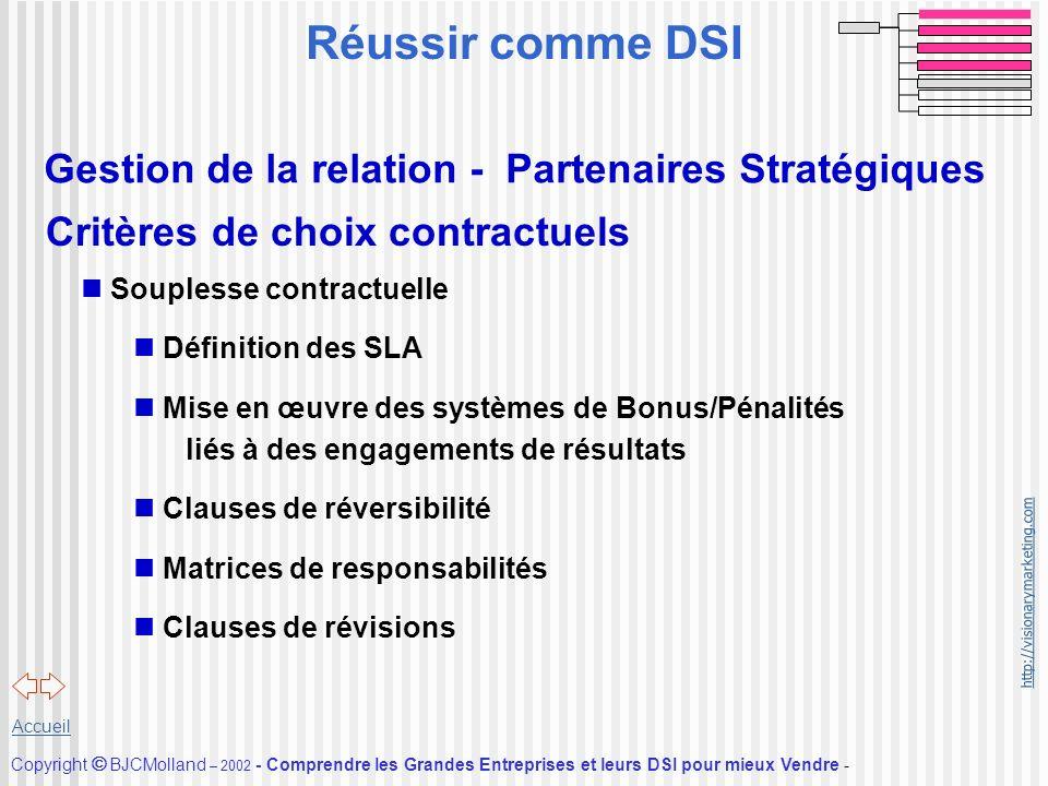 Réussir comme DSI Gestion de la relation - Partenaires Stratégiques