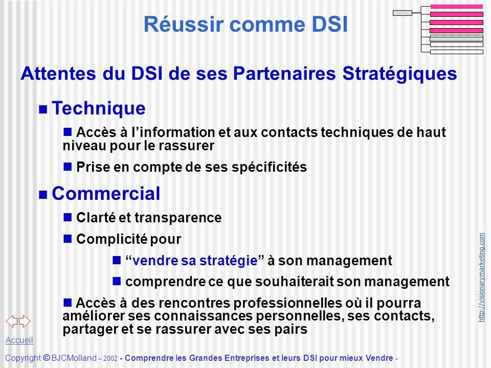 Réussir comme DSI Attentes du DSI de ses Partenaires Stratégiques