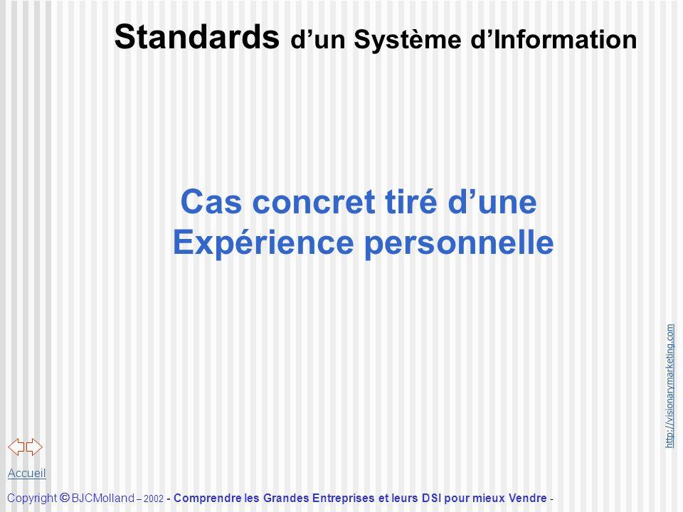 Standards d'un Système d'Information