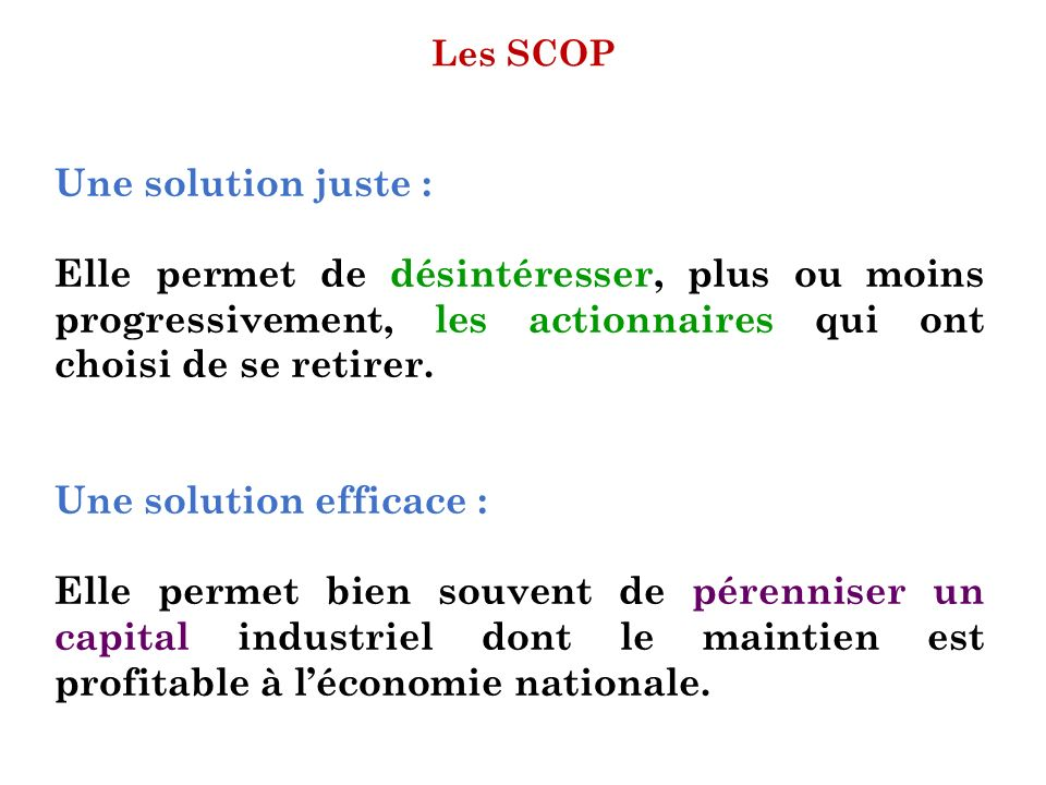 Une solution efficace :