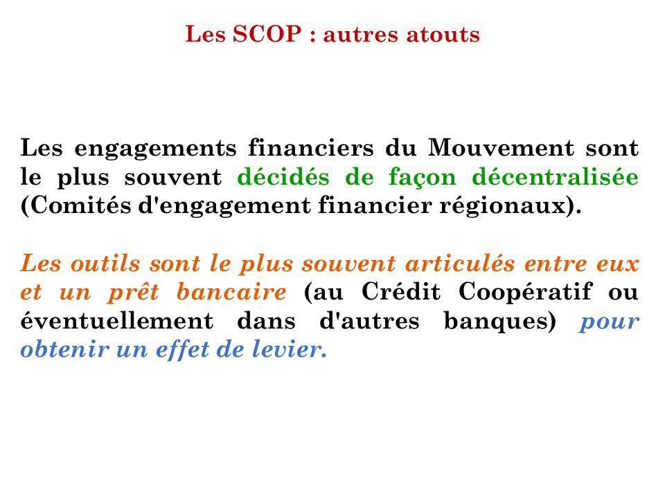 Les SCOP : autres atouts